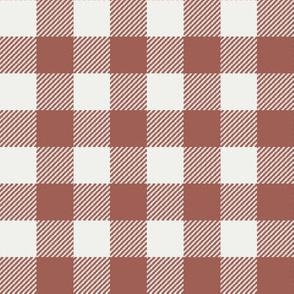 "redwood check fabric - sfx1443 - 1"" squares - check fabric, neutral plaid, plaid fabric, buffalo plaid"