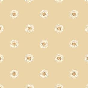 chamomile minimal daisy fabric, sfx0916 - daisies, simple prairie fabric, baby girl, muted, earthy, daisy fabric