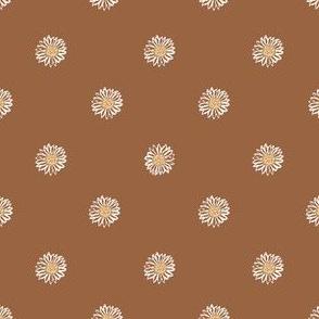 sierra minimal daisy fabric, sfx1340 - daisies, simple prairie fabric, baby girl, muted, earthy, daisy fabric