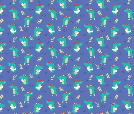 CROCODILE ROCK fabric by michelepayne on Spoonflower - custom fabric