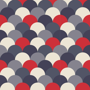 Scandi Hills Blue and Red