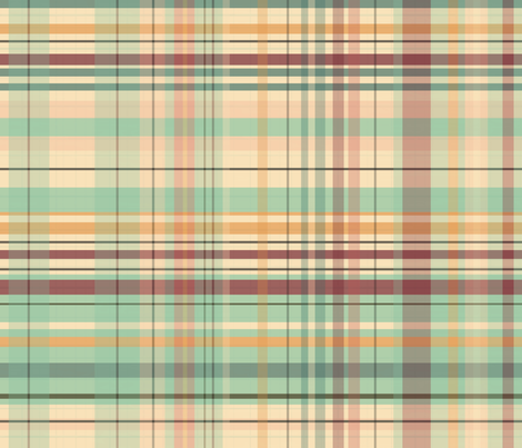 Market Plaid - Large Scale fabric by sarah_treu on Spoonflower - custom fabric