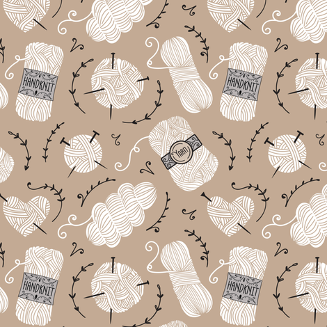 Yarn A - Taupe fabric by malibu_creative on Spoonflower - custom fabric