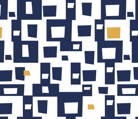 Navy Blocks II fabric by reneeciufo on Spoonflower - custom fabric