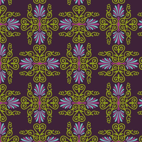 Victorian/Greek mashup, plum
