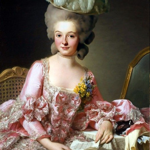 Marie Antoinette inspired pink silver white gown ballgowns masquerade masks floral flowers baroque rococo Victorian  portraits historical hair pouf 18th century Bouffant pearl necklace choker corsage feathers hats neoclassical beautiful woman lady beauty