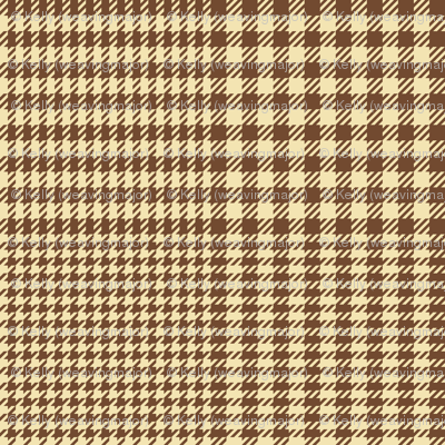 """Prince of Wales check #3, 2"""" cream and brown"""
