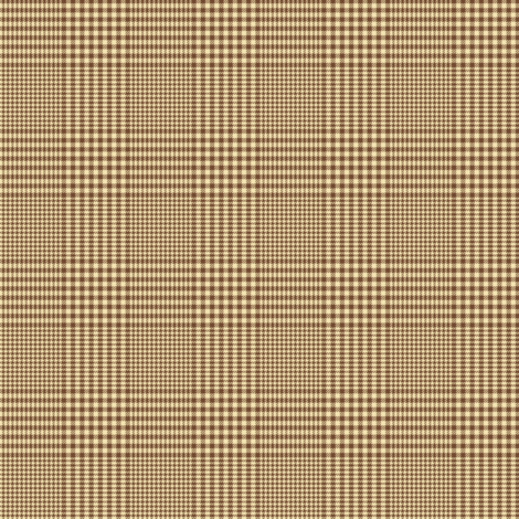 """Prince of Wales check #3, 2"""" cream and brown fabric by weavingmajor on Spoonflower - custom fabric"""