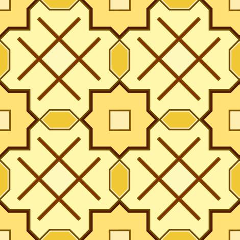 blackwork golden fabric by hannafate on Spoonflower - custom fabric