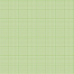 "Prince of Wales check #3, 2"" green/white"