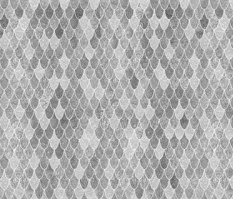 mermaid scales silver fabric by schatzibrown on Spoonflower - custom fabric