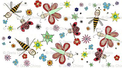 Flutterbys n' Flowers
