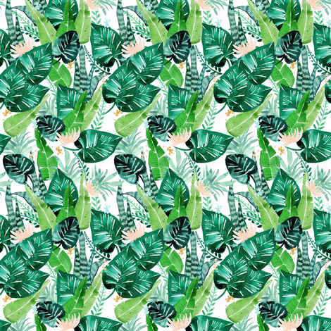 jungle tropical S fabric by crystal_walen on Spoonflower - custom fabric