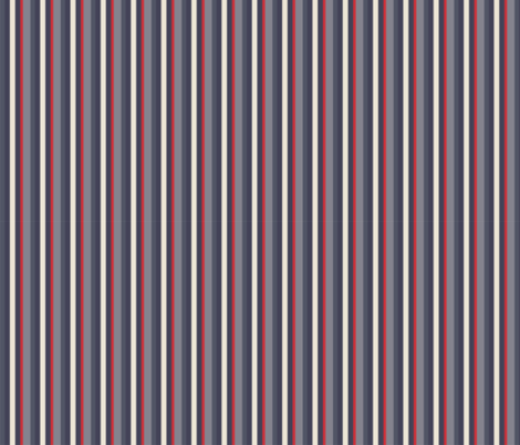 blue and red stripe fabric by celina_digby on Spoonflower - custom fabric