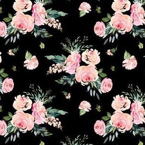 "4"" Graceful Blooms - Black"