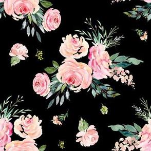 "8"" Graceful Blooms - Black"
