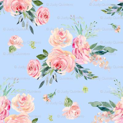"4"" Graceful Blooms - Blue"