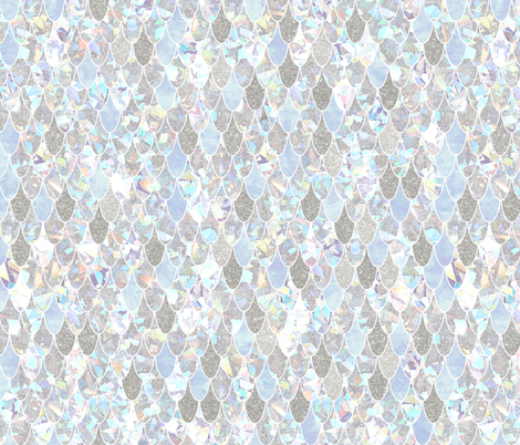 mermaid scales holographic fabric by schatzibrown on Spoonflower - custom fabric