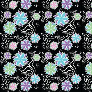 Geo Flower black