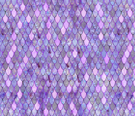 mermaid scales lilac fabric by schatzibrown on Spoonflower - custom fabric