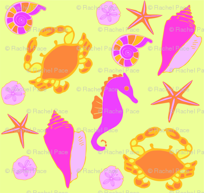 ocean print bright