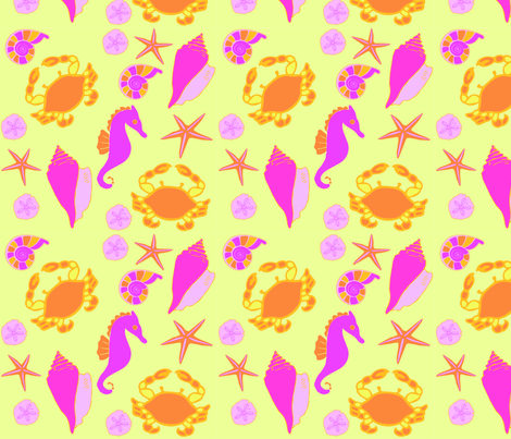 ocean print bright fabric by raline on Spoonflower - custom fabric