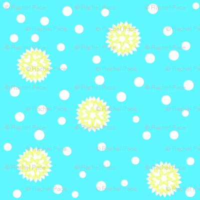 pinwheel polka dot blue