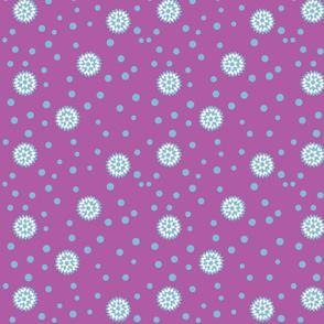 pinwheel polka dot purple