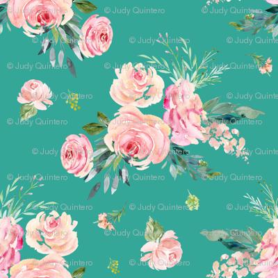 "36"" Graceful Blooms - Teal"