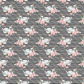 "1.5"" Graceful Swan - Black & White Stripes"