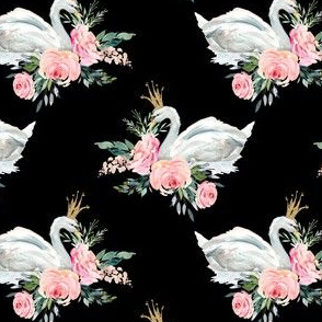"4"" Graceful Swan - Black"