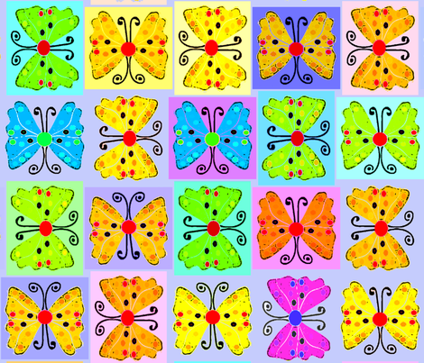 3-  NEW BUTTERFLIES  fabric by soobloo on Spoonflower - custom fabric