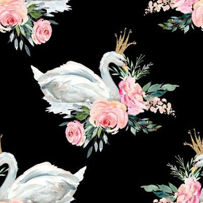 "8"" Graceful Swan - Black"