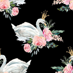 "18"" Graceful Swan - Black"