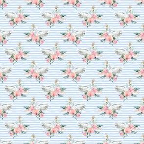 """1.5"""" Graceful Swan - Blue Stripes"""