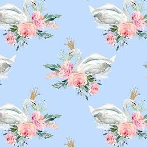 """4"""" Graceful Swan - Blue"""