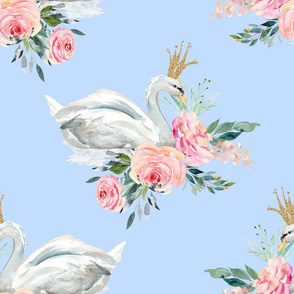 """18"""" Graceful Swan - Blue"""
