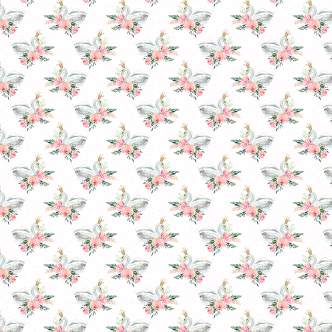"1.5"" Graceful Swan - Blush Pink Water Dots fabric by shopcabin on Spoonflower - custom fabric"