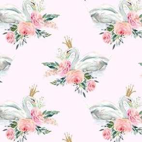 "4"" Graceful Swan - Blush"
