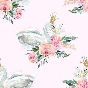 "8"" Graceful Swan - Blush"