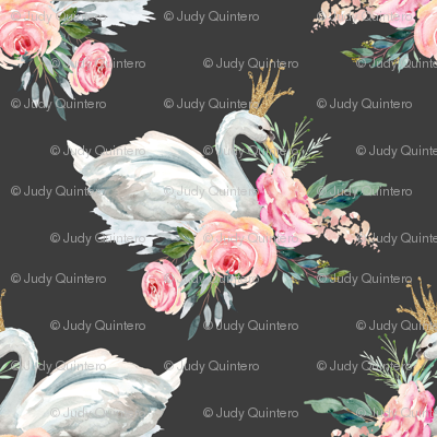 """36"""" Graceful Swan - Dark Grey"""