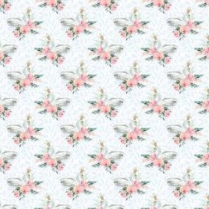 """1.5"""" Graceful Swan - Light Blue Silhouette"""