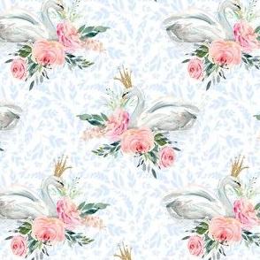 """4"""" Graceful Swan - Light Blue Silhouette"""