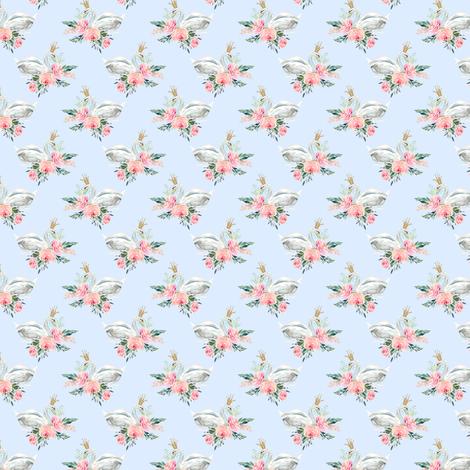 "1.5"" Graceful Swan - Light Blue fabric by shopcabin on Spoonflower - custom fabric"