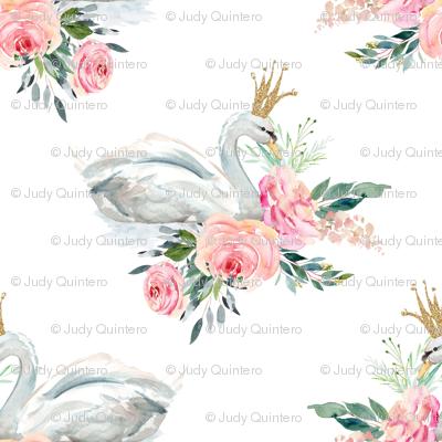 "8"" Graceful Swan - White"
