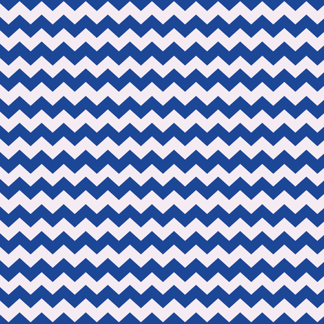 Zigzags - blue and white fabric by cecca on Spoonflower - custom fabric