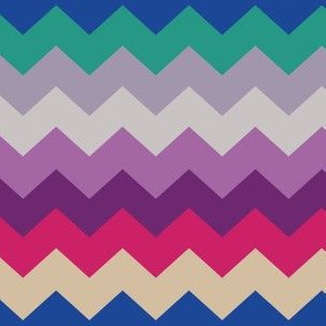 Kilim ZigZag - Pink and Purple