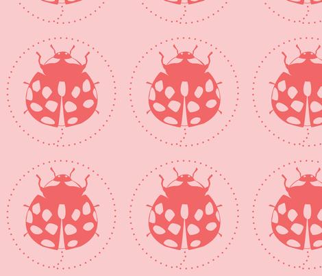 ladybug transistor fabric by raven+crow on Spoonflower - custom fabric