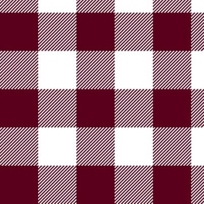Gingham Bordeaux