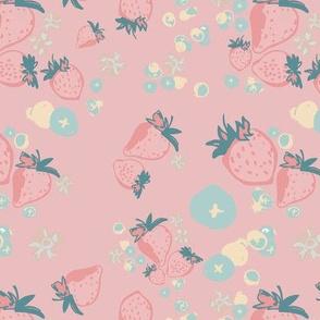 Berries on pink